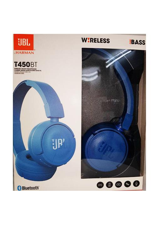 JBL T450BT BLUETOOTH HEADPHONES BLUE