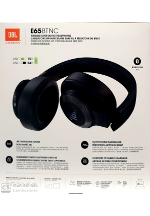 JBL E65BTNC BLUETOOTH HEADPHONES BLACK