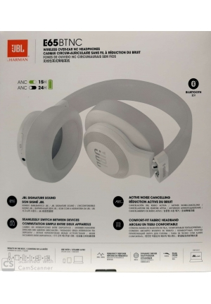 JBL E65BTNC BLUETOOTH HEADPHONES WHITE