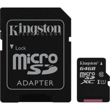 MICRO SDXC KINGSTON 64GB WITH A...