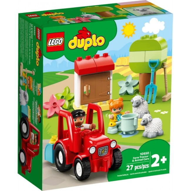 LEGO DUPLO 10950 TRACTOR AND ANIMAL CARE