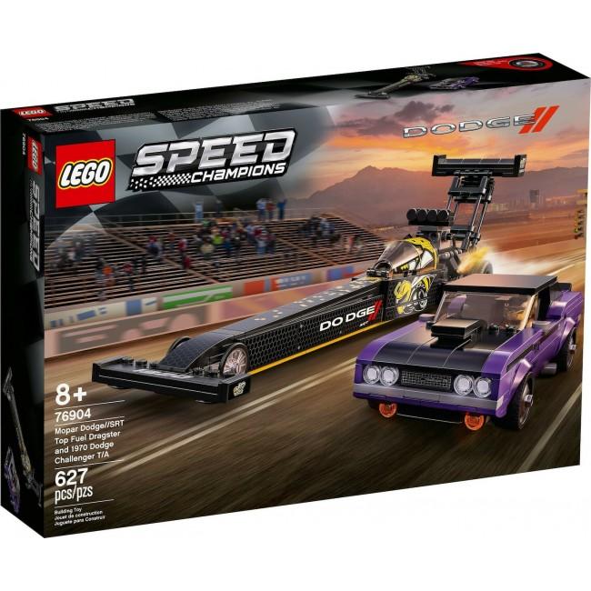 LEGO SPEED CHAMPIONS 76904 MOPAR DODGE//SRT TOP FUEL DRAGSTER & 1970 DODGE CHALLENGER