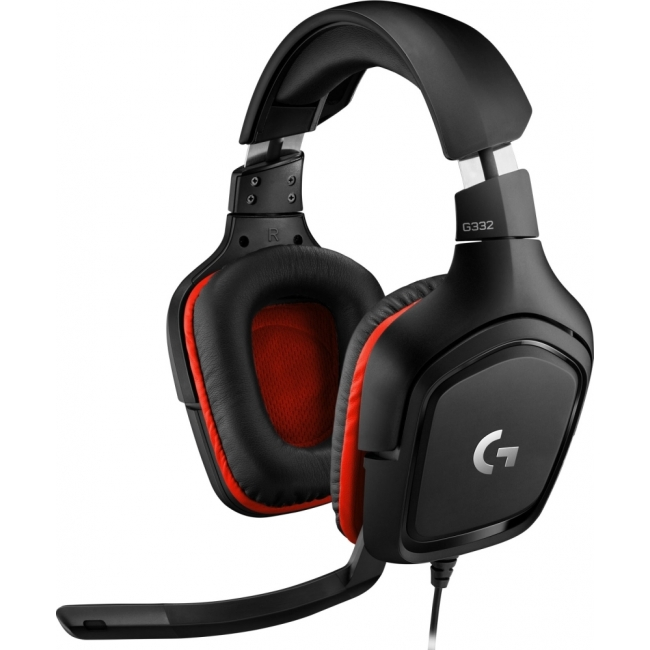 HEADSET LOGITECH G332 BLACK - RED