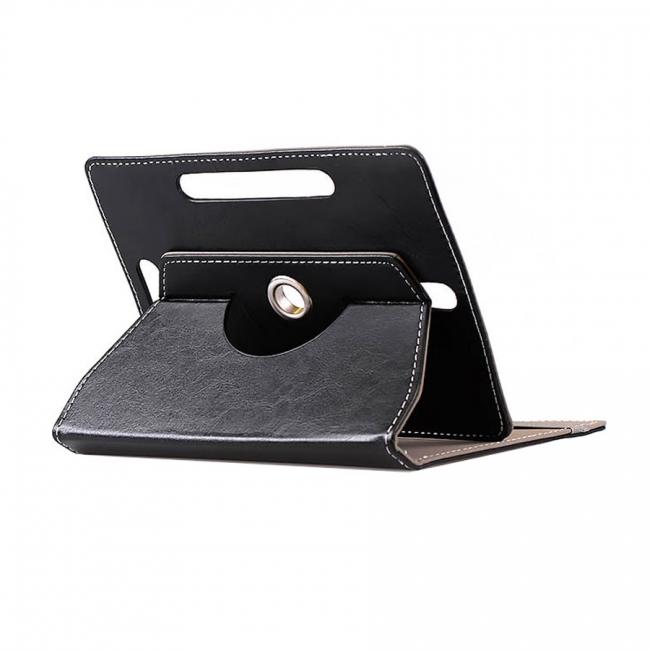 """Θήκη για Tablet Universal 7"""" 360 Degrees Leather Book Stand Black"""