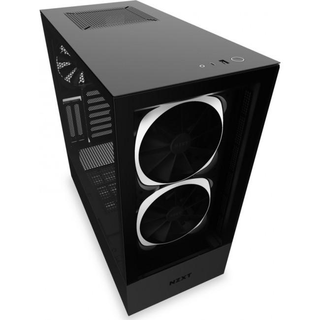 CASE NZXT H510 ELITE TOWER TEMPERED GLASS 2nd GEN RGB BLACK CA-H510E-B1