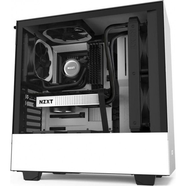 CASE NZXT H510 TOWER TEMPERED GLASS WHITE CA-H510B-W1