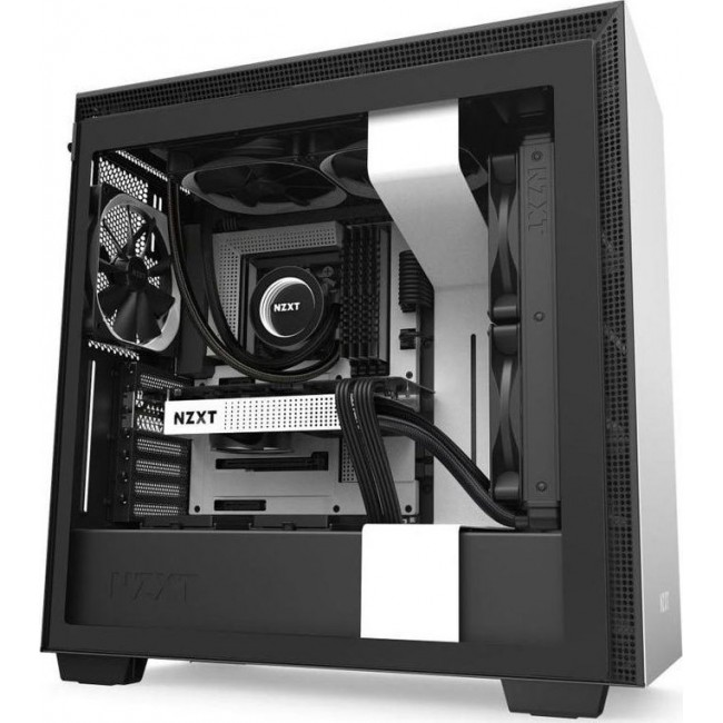 CASE NZXT H710 TOWER TEMPERED GLASS 272MM EATX WHITE CA-H710B-W1
