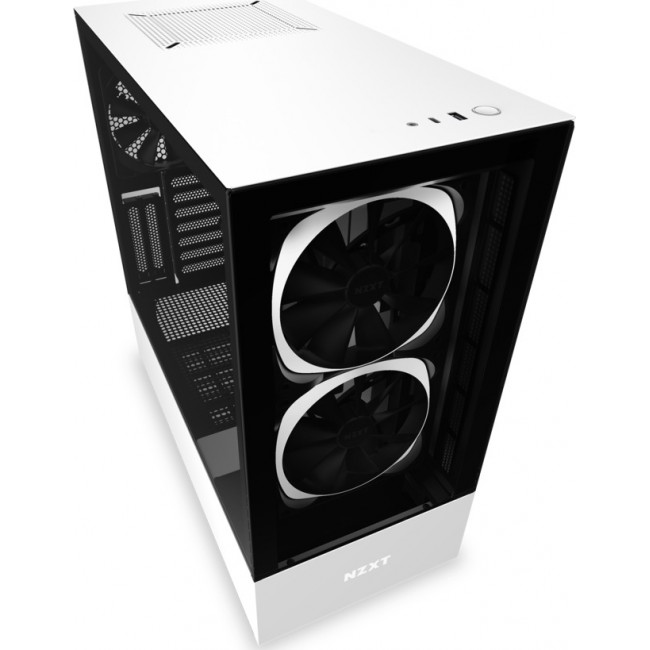 CASE NZXT H510 ELITE TOWER TEMPERED GLASS SMART 2nd GENERATION WHITE CA-H510E-W1
