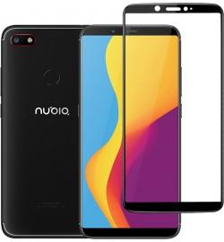 Tempered Glass 9h for Nubia V18 Full Black Powertech
