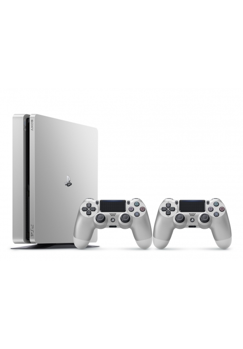 SONY PLAYSTATION 4 SLIM 500GB D CHASSIS SILVER+2ND DUALSHOCK