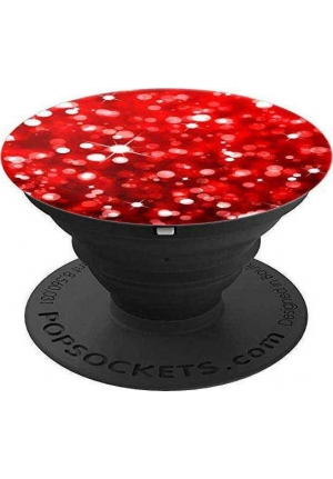 POP SOCKETS GLITTER RED