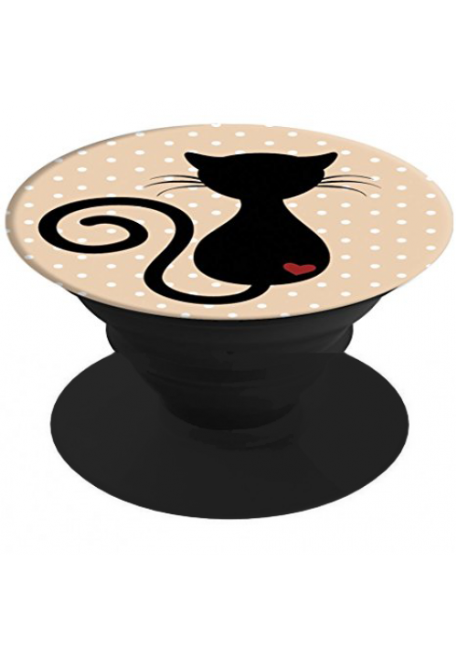 POP SOCKETS BLACK CAT AND POP STAND