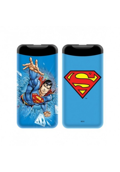 POWER BANK SUPERMAN 6000mAh 2.1A BLUE (001)