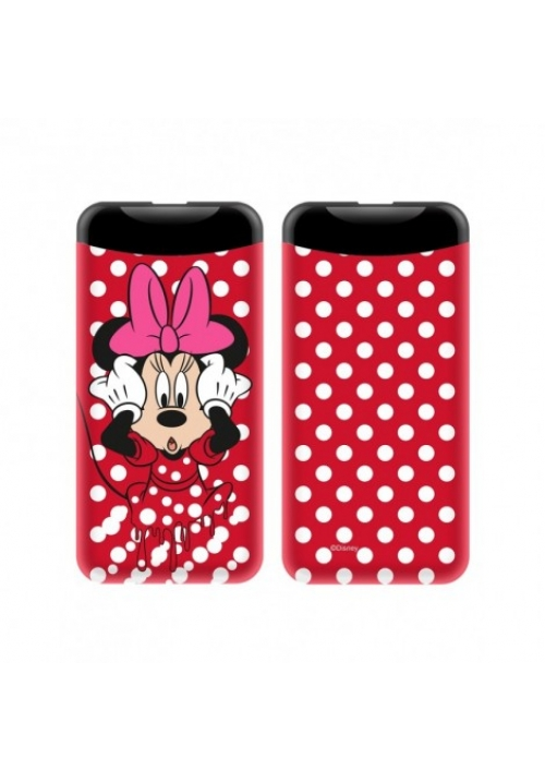 POWER BANK MINNIE 6000mAh 2.1A RED (008)
