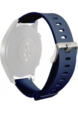 PURO WRISTBAND FOR MULTIBRAND WATCH SILICONE 20mm NAVY BLUE UNIWBICON20NVBLUE