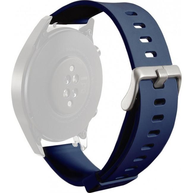 PURO WRISTBAND FOR MULTIBRAND WATCH SILICONE 20mm NAVY BLUE UNIWBICON20NVBLUE