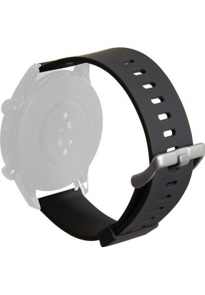PURO WRISTBAND FOR MULTIBRAND WATCH SILICONE 20mm BLACK UNIWBICON20BLK