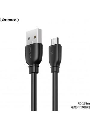 CABLE REMAX RC-138M USB - MICRO SUJI PRO 2.1A BLACK