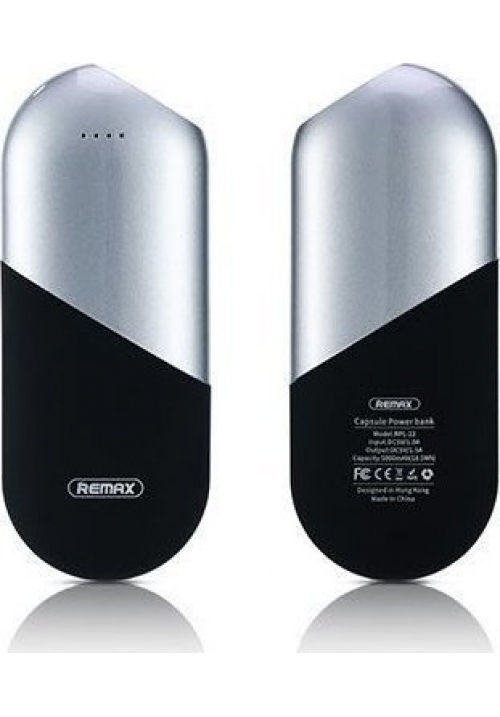 POWER BANK REMAX CAPSULE 5000mAh RPL-22 SILVER