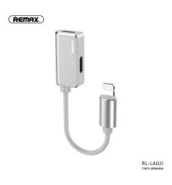 Adapter Remax Lightning to Lightning + Lightning Silver RL-LA02i