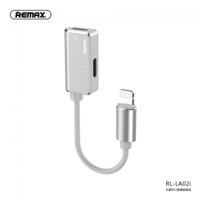 Adapter Remax Lightning to Lightning + Lightning Silver RL-LA02i