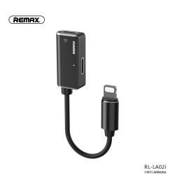 Adapter Remax Lightning to Lightning + Lightning Black RL-LA02i