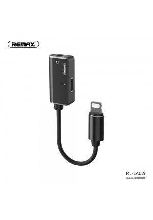 Adapter Remax Lightning to Lightning + Lightning Black RL-LA02i