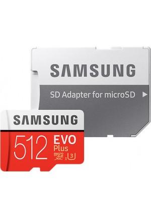 SAMSUNG MICRO SDXC 512GB CLASS 10 U3 EVO+  (WITH ADAPTOR) (MB-MC512HA)