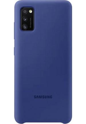 ΘΗΚΗ ΓΙΑ SAMSUNG GALAXY A41 SILICONE COVER BLUE EF-PA415TLE BLISTER