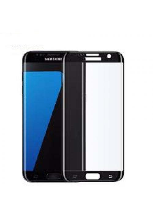 Tempered Glass 9h for Samsung Galaxy S7 Edge Blue Star Full Black