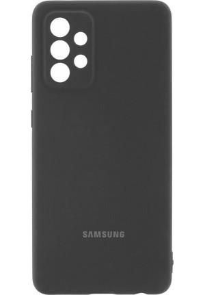 ΘΗΚΗ ΓΙΑ SAMSUNG GALAXY A72 ORIGINAL SILICONE COVER BLACK BLISTER EF-PA725TBEGWW