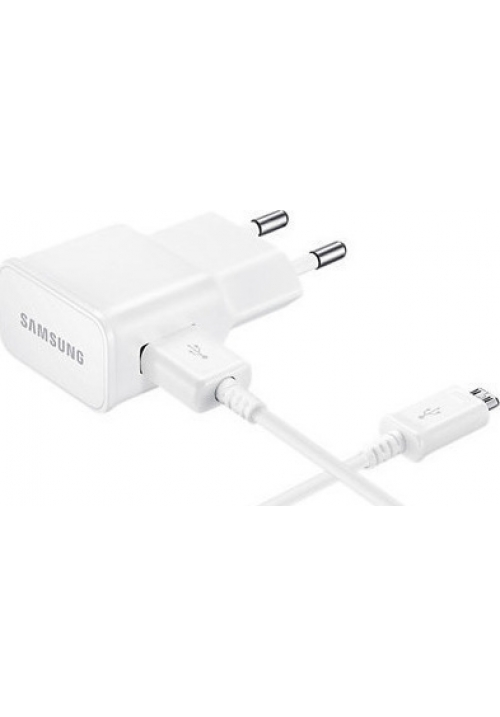 Samsung micro USB Cable & Wall Adapter Λευκό (EP-TA12EWE+DCU4AWE) (Bulk)
