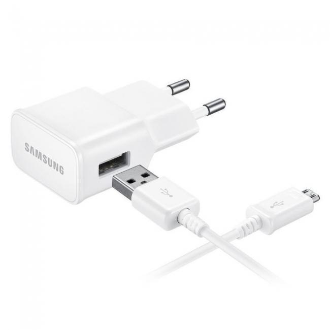 Samsung micro USB Cable & Wall Adapter Λευκό (EP-TA20EWE & ECB-DU4AWE) Blister
