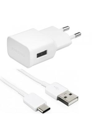 Samsung USB Type-C Cable & Wall Adapter Λευκό (EP-TA50EWE+EP-DN930CWE) (Bulk)