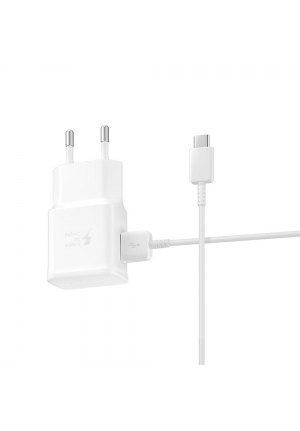 Samsung USB Type-C Cable & Wall Adapter Λευκό (EP-TA200EWE+EP-DG970BWE) Bulk