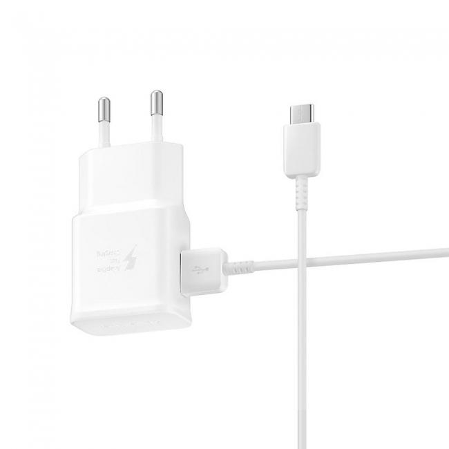 Samsung USB Type-C Cable & Wall Adapter Λευκό (EP-TA200EWE+EP-DG970BWE) Bulk