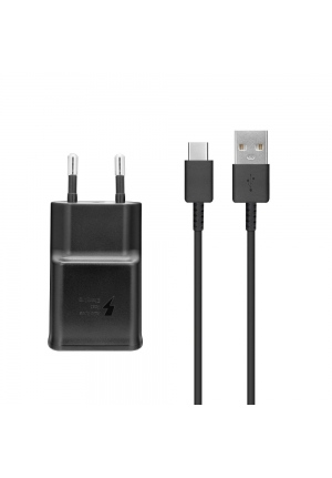 Samsung USB Type-C Cable & Wall Adapter Μαύρο (EP-TA200EBE+EP-DG970BBE) Bulk