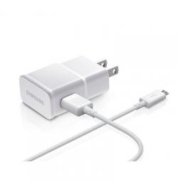 Samsung micro USB Cable & Wall Adapter Λευκό (ETAU90EWE+DU4BWE) Blister