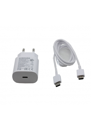 Samsung USB Type-C Cable & Wall Adapter White Bulk (EP-TA800EWE+EP-DA705BWE)