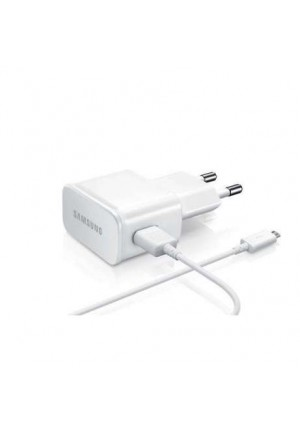 Samsung micro USB Cable & Wall Adapter Λευκό (ETA0U83EWE+ECB-DU4AWE) (Bulk)