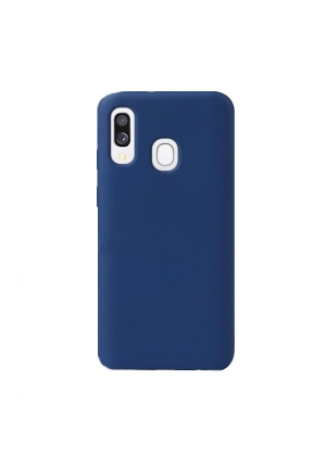 Θήκη για Samsung Galaxy A40 Tpu Liquid Silicone Midnight Blue