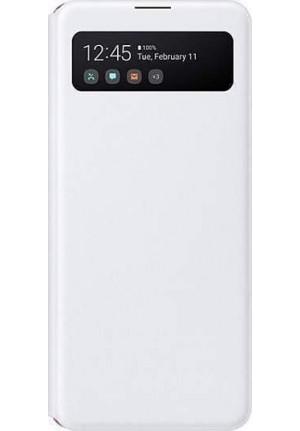 Θήκη για Samsung Galaxy A41 S-View Wallet Cover White Blister EF-EA415PWE