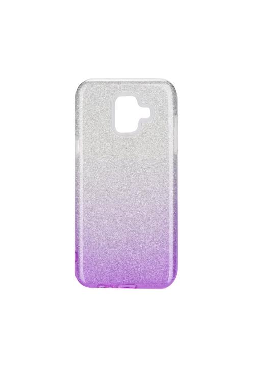 Θήκη για Samsung Galaxy A6 2018 Forcell Shining Clear/Violet