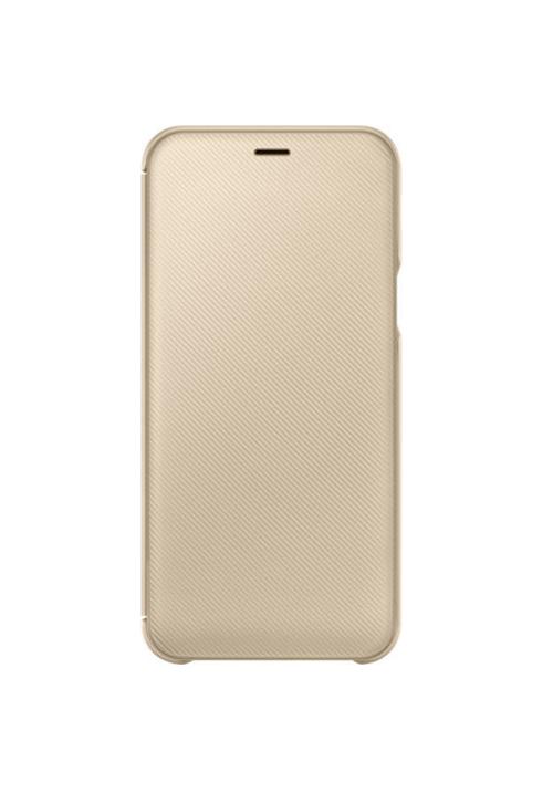 Θήκη για Samsung Galaxy A6 2018 Flip Wallet Gold EF-WA600CF Original Blister