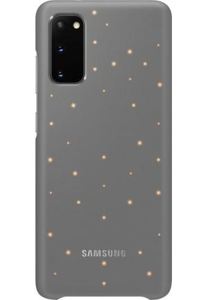 Θήκη για Samsung Galaxy S20 Led Cover Grey Original EF-KG980CJE