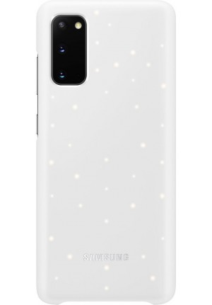 Θήκη για Samsung Galaxy S20 Led Cover White Original EF-KG980CWE