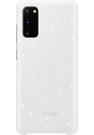 Θήκη για Samsung Galaxy S20 Led Cover White Original EF-KG980CWE