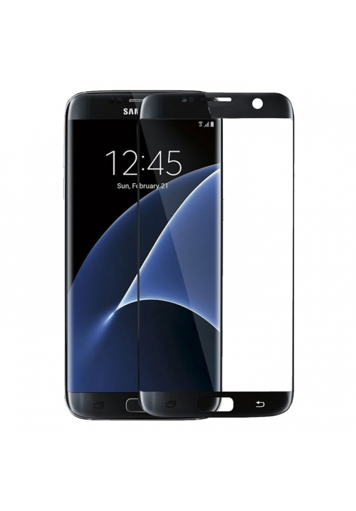 Tempered Glass 9h for Samsung Galaxy S7 Edge Full Black