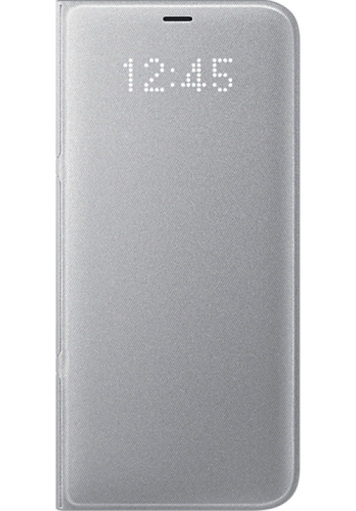 Θήκη για Samsung S8 Plus Flip Cover Led Silver EF-NG955PSE Original