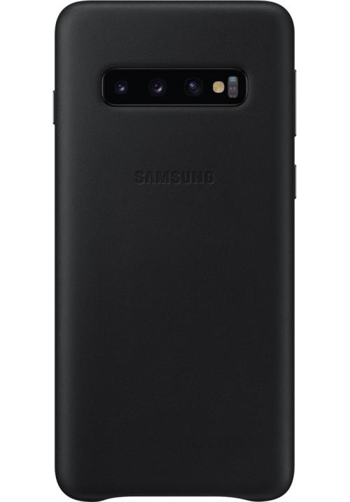Θηκη για Samsung Galaxy S10 Leather Cover Black Original EF-VG973LBE